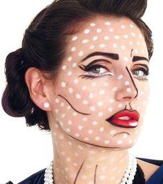 Pop Art Halloween Makeup