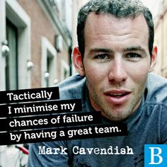Having the support of a great team makes a winner! Mark Cavendish explains his success!