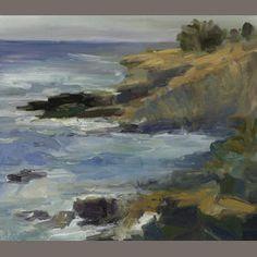 Rita Shulak, Stormy waters at La Jolla Shores, o/c