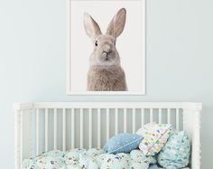 Watercolor Rabbit Rabbit Print Bunny Print Animal Print