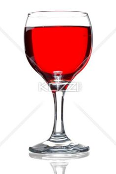 glass filled with red wine - Glass of red wine isolated on white background