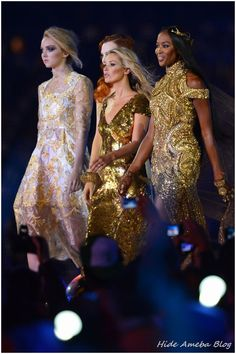 Lily Cole, Naomi Campbell & Kate Moss