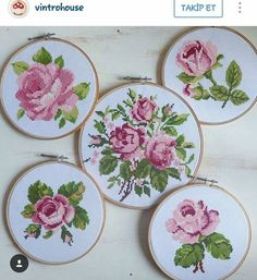 This Pin was discovered by nes Ribbon Embroidery, Cross Stitch Embroidery, Embroidery Patterns, Cross Stitch Heart, Cross Stitch Flowers, Cross Stitch Designs, Cross Stitch Patterns, Bead Art, Cross Stitching