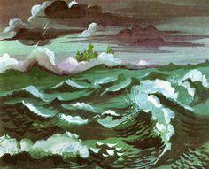 """The Little Island"" written by Golden MacDonald, illustrated by Leonard Weisgard (1946)"