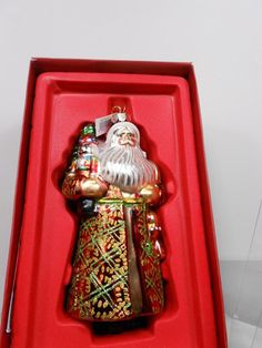 Marquis Waterford Old World Santa Christmas Tree Ornament MINT Santa Christmas, Christmas Tree Ornaments, Marquis, Beautiful Christmas, Old World, Mint, Holiday Decor, Ebay, Marquess