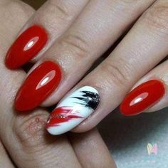 Nageldesign 70 beautiful red nail art designs for stylish women Page 45 of 70 - Red Nail Art, Red Nails, Pastel Nails, Black Nails, Cute Nails, Pretty Nails, Nail Art Designs, Simple Toe Nails, Latest Nail Art