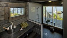 This Comfortable Tiny House Design (with Plans) Exterior Design, Interior And Exterior, Outdoor Sauna, Sauna Design, Finnish Sauna, Anna, Cottage Plan, Tiny House Design, Coastal Style
