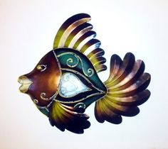SPECIAL OFFER! Iron Fish Wall Art - Just £10 plus P&P  This eyecatching iron Fish makes a great decoration and talking point. It it a Fair Trade item, and was handmade in Indonesia. It measures 40 x 38 cm, and is ready to hang with a built in hook on the back.  Collection from Hull, or UK courier service charged at just £4 extra. #PayPal accepted.  www.facebook.com/InYourWorldHull / www.twitter.com/InYourWorldHull  #fish #wallart #greatgiftidea