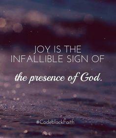 ...the presence of God