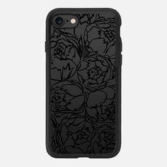 PHEOBE PEONIES iPhone 7 Glitter case by E U N E V E   Casetify