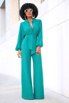 Style Pantry | Bell Sleeve Wide Leg Jumpsuit