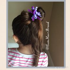 Ponytail with a bow ! Super cute