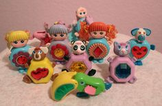 1980's Sweet Secrets toy collection of transformable dolls and animals.