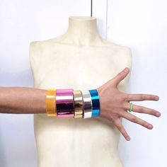 Cooee Design Acrylic Cuffs | Spotted on refinery29