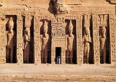 Hathor Temple at Abu Simbel, Southern Egypt - Ramses II built this for his 'special' wife, Queen Nefertari - her tomb is in Valley of the Queens, Luxor, Egypt