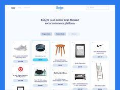 Budgee UI by Sam Stratton