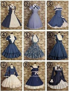 Which 1800's dress do u like. I like choose I like them all.