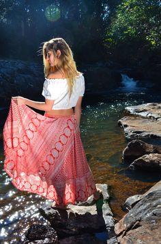 Bohemian Skirt , Boho Skirt , Bohemian Clothing , Black Gypsy Skirt , Long Skirt , One Size     Gorgeous flowing Gypsy Skirt is made of n...