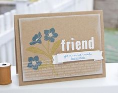 Kraft and white ink! Card by Lisa Johnson Poppy Paperie
