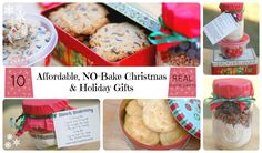 10 Affordable, NO-Bake Christmas and Holiday Gifts, GLUTEN FREE