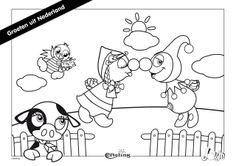 Ausmalbild von Jokie und Jet in den Niederlanden Arts And Crafts, Diy Crafts, My Little Girl, Colouring Pages, Album Covers, Art For Kids, Fairy Tales, Snoopy, Quilts