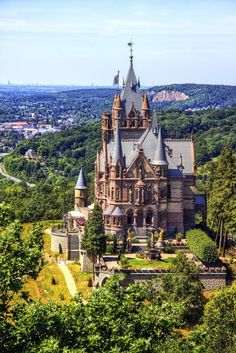 Schloss Drachenburg in Königswinter on the Rhine River near the city of Bonn. G… Schloss Drachenburg in Königswinter on the Rhine River near the city of Bonn. Places Around The World, Oh The Places You'll Go, Places To Travel, Places To Visit, Around The Worlds, Beautiful Castles, Beautiful Places, Dream Vacations, Vacation Spots