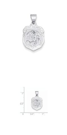 Necklaces and pendants 84607 14k cross w st michael medal pendant necklaces and pendants 84607 14k white gold polished and satin st michael medal pendant aloadofball Gallery