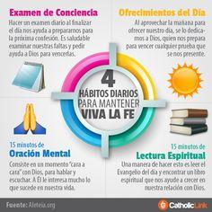 Biblioteca de Catholic-Link - Infografía: 4 hábitos diarios para mantener viva...