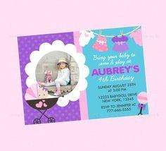 Custom Mommy and Me Baby Doll Birthday Invitation Birthdays