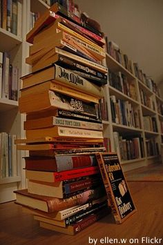 """I love the irony of challenging Bradbury's FAHRENHEIT 451. In addition, it is fitting for that book to be leaning against a stack of other """"challenged"""" books."""