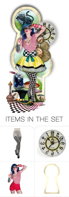 """Alice - Not So Dark but Sexy Wonderland"" by rosie305 ❤ liked on Polyvore featuring art, dollset and artdoll"