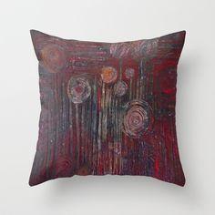 99 Balloons -Abstract  Throw Pillow by RokinRonda - $20.00 @society6 #rokinronda #abstract #maroon