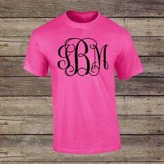 Large Monogram Shirt , Womens monogram clothing Monogram T shirt by PalmettoStateDesign on Etsy https://www.etsy.com/listing/286285475/large-monogram-shirt-womens-monogram