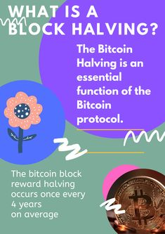 Bitcoin halving or the bitcoin block reward halving occurs once every 4 years on average. Important Dates, Fast Growing, 4 Years, Cryptocurrency, World, The World