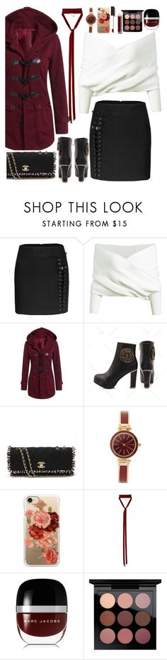 """""""fabulous autumn look"""" by teto000 ❤ liked on Polyvore featuring Chanel, Anne Klein, Casetify, Ann Demeulemeester, Marc Jacobs, MAC Cosmetics, Fall, fab, look and autumn"""