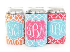 New to TheMonogramLine on Etsy: monogrammed  can coozie  : design your own (9.50 USD)