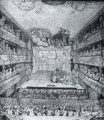 A 1640 France Theater like the one Cyrano de Bergerac is set at