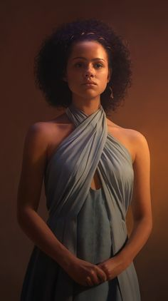 """Missandei"" - Euclase, Photoshop {contemporary figurative realism artist beautiful female standing young woman #hyperreal digital painting #gameofthrones #loveart} euclase.tumblr.com"