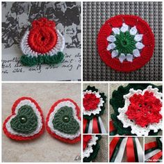 kokárda, kokárda, kokárda Yarn Crafts, Crochet Earrings, Crochet Jewellery, Paper Flowers, Holiday, Christmas, Mandala, Crochet Hats, Easter