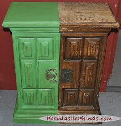 Phantastic Phinds: Antibes Green Annie Sloan Chalk Paint™ Demo Cabinet