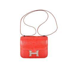 fake birkin bag hermes - Rare hermes constance bag 23cm double gusset rose jaipur epsom ...