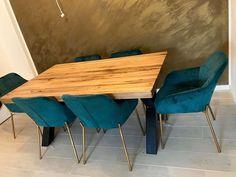 Masa stil scandinav cu scaune catifea Dining Table, Modern, Furniture, Home Decor, Homemade Home Decor, Trendy Tree, Dinning Table Set, Home Furnishings, Interior Design