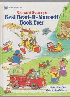 Richard scarry best read it yourself book ever Richard Scarry, Little Golden Books, Vintage Children's Books, Kids Reading, Library Books, Book Collection, Back In The Day, Good Books, Big Books
