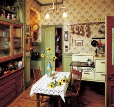 The kitchen in this 1889 Victorian began as the butler's pantry...(photo Linda Svendsen)