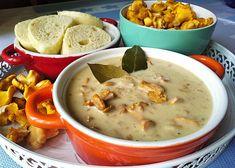 Lišky na smetaně s domácím knedlíkem Cheeseburger Chowder, Food, Essen, Meals, Yemek, Eten