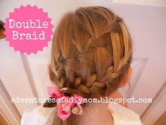 Adventures of a DIY Mom: Double and Triple Waterfall Braids - From the Archives