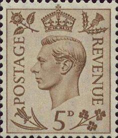 Definitives 5d Stamp (1937) Brown