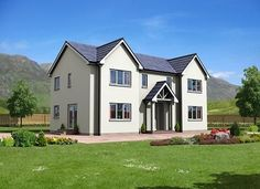 Cottage Homes - Norscot Kit Homes Storey Homes, Living Environment, Vestibule, Kit Homes, Cottage Homes, Glass Door, French Doors, Townhouse, Facade