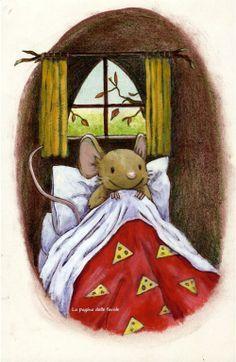 "Layn Marlow illustrations - ""How many sleeps? Art And Illustration, Illustration Mignonne, Art Fantaisiste, Art Mignon, Cute Mouse, Nighty Night, Tatty Teddy, Woodland Creatures, Beatrix Potter"