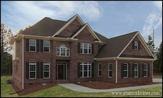 Classic and traditional, this version of the Maple Lane is a northeastern style full brick home with over 3,000 sq ft, 5 bedrooms and 4.5 baths.